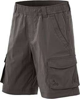 CQR Kids Youth Pull on Cargo Shorts, Outdoor Camping Hiking Shorts, Lightweight Elastic Waist Athletic Short with Pockets