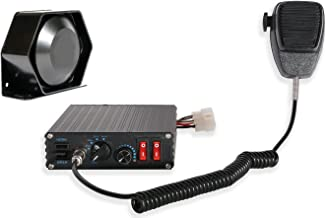 Compact Siren & Slim Speaker PA System Siren Bundle 100w - 6 modes -2 20A Switches
