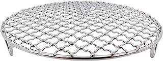 Ronda de acero inoxidable con parrilla de pie,Parrilla redonda de carbón,Soporte de Vapor Estante,Diámetro 35cm