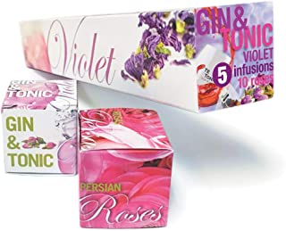 Violet Gin Tonic color changing Infusions botanicals Gift Tea Bags Kit Set - Te Tonic