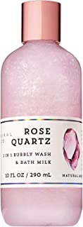 Bath and Body Works 2-in-1 Bubbly Bubble Wash and Bath Milk Rose Quartz 10 Ounce