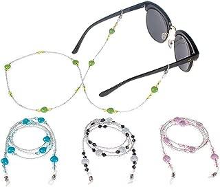 Cordino per occhiali da vista trasparente per sport allaria aperta 80 cm bianco Buleerouy anti strappo elastico