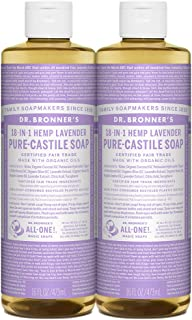 Dr. Bronner's Pure-Castile Liquid Soap Shower And Travel Pack - Lavender 16 Oz. (2 Pack)