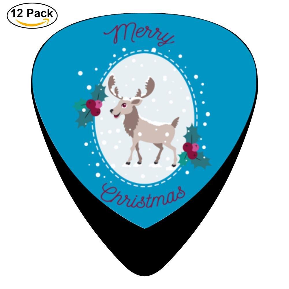 Sylvia feliz Navidad – alce y nieve celuloide púas de guitarra ...