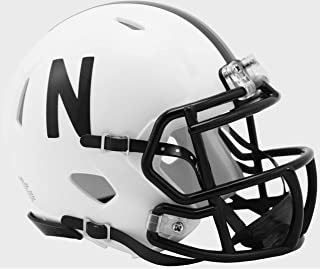 Nebraska Cornhuskers 2019 Alternate Black & White NCAA Revolution SPEED Mini Football Helmet