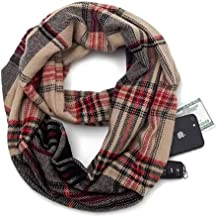 Convertible Infinity Scarf for Women ? Lightweight Soft Scarves with Hidden Pocket