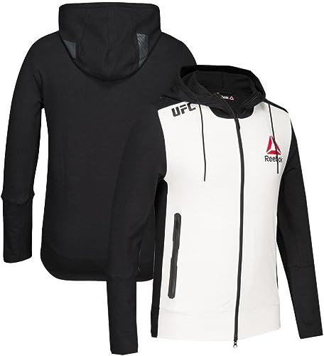 Adidas Reebok Official UFC Fight Kit (Blanc Noir) Sweat à Capuche pour Homme