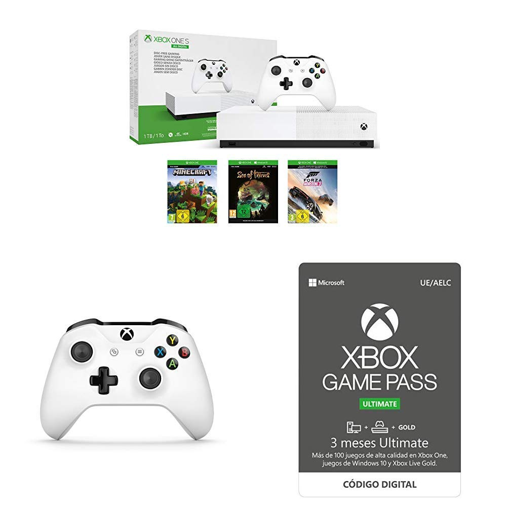 Xbox One S All Digital + Xbox Wireless Controller, Blanco + ...