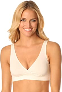 Organic Padded Daily Bra - ECO Friendly Women's Solid Scoop Back v-Neck Sports Bras with Pads - Made in The USA