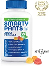 Daily Gummy Adult Multivitamin: Vitamin C, D3, & Zinc for Immunity, Omega 3 Fish Oil (DHA), Vitamin A, Iodine, Choline, Vitamin B6, E, Methyl B12, Chewable, by Smartypants (180 count, 30 Day Supply)