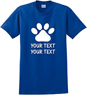 Personalized Dog or Cat Paw with Your Custom Text T-Shirt