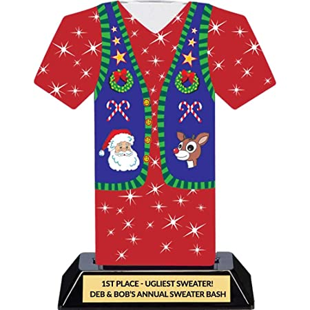 Ugly Christmas Sweater Party Trophy Tacky Sweater Award