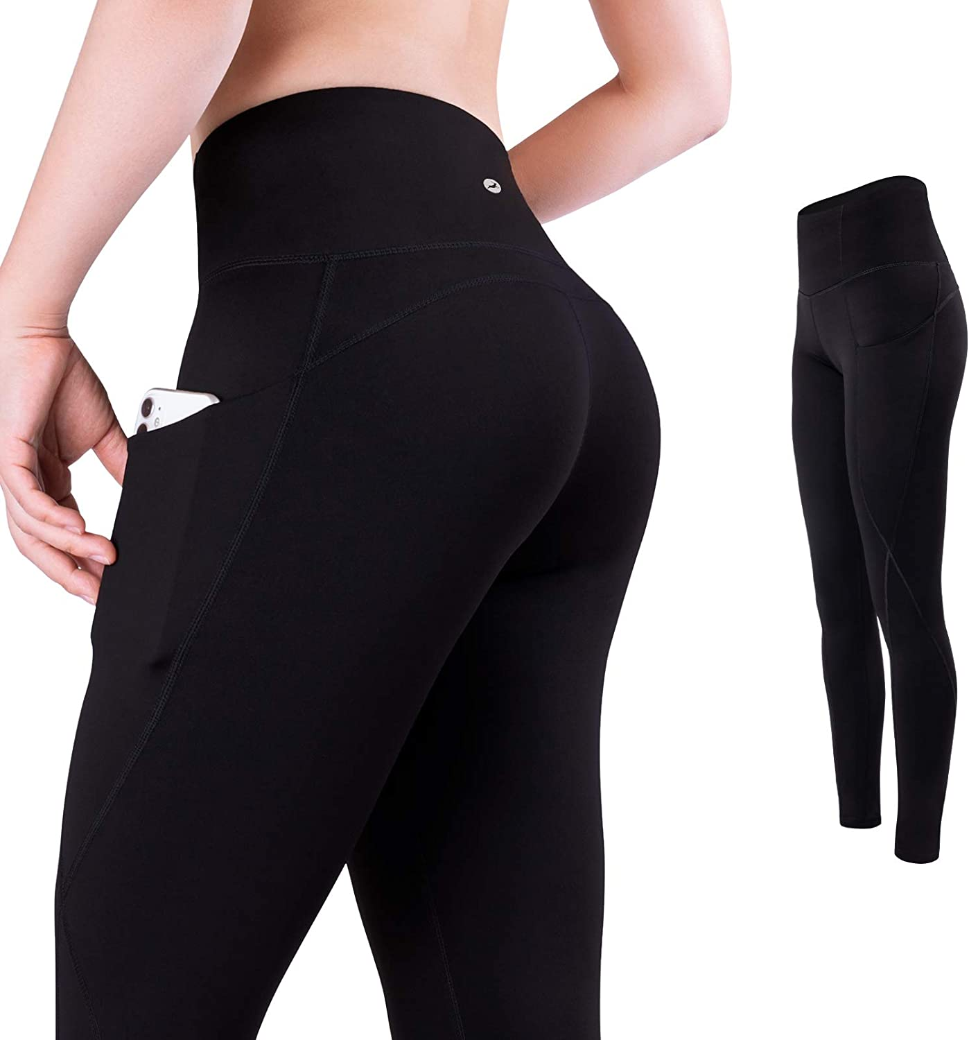 Trideer High Waisted Yoga Pants for Women, 7/8 Length Womens Workout Leggings with Pockets, Buttery Soft and Tummy Control: Clothing