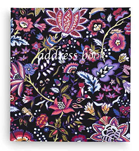 Vera Bradley Address Book with A-Z Tab Dividers, Floral Contact Binder with 40 Pages, Foxwood Floral