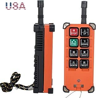 zinnor Industrial Radio Remote Control Winch 24V Wireless Remote Control Hoist Crane(Transmitter & Receiver), US Shipping