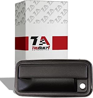 T1A Exterior Door Handle Replacement for 1995-2000 Chevy and GMC 1500 2500 3500 Pickup, Fits Front Left Driver's Side, Also Fits Tahoe, Suburban, Yukon, Cadillac Escalade, Black Color, T1A-GM-15742229