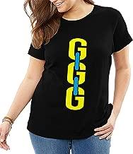 U are Friends Boxing King GGG Camiseta de Manga Corta para Mujer Camisetas Sport Summer