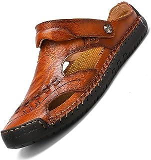 Hommes Randonnée Double Usage Sangle Casual Sandales Chaussures de Plage d'été Bout fermé Marche Pêcheur Anti-dérapant Con...