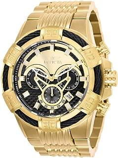 Men's Bolt Quartz Stainless-Steel Strap, Gold, 30 Casual Watch (Model: 25543)