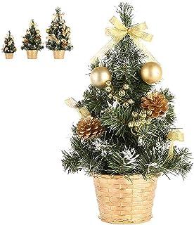 aipipl Arbre de Noël DIY Ornements Arbre de Noël Nouvel an Décoration de Table Artificielle Mini Arbre de Noël Décorations...