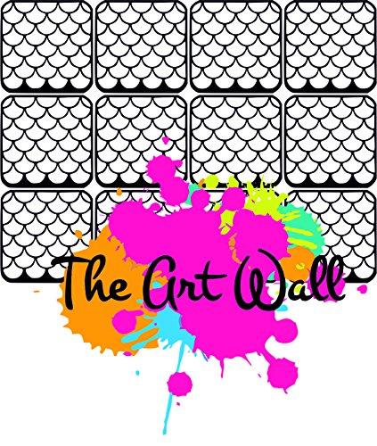 Fish Tail Nail Stencils Stickers Vinyl Nail Art/Nail Deco/ Airbrush