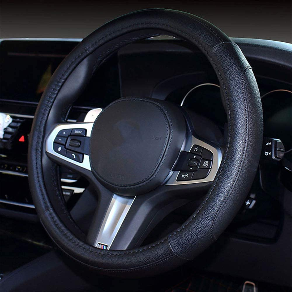 coofig Car Steering Outlet ☆ Free Shipping Wheel Cover Leather Univers with PU Durable Discount is also underway