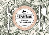 Floral Engravings: Placemat Pad: Paper placemats - sets de table en papier - tovagliette di carta - manteles indivisuelles - Papier Tischsets