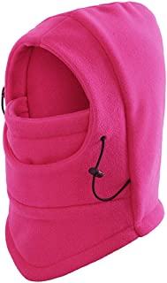 TRIXES Unisex Half Face Fleece Balaclava Hood – Hot Pink - One Size