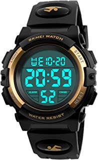 Kids LED Digital Watch Waterproof Luminescent Alarm Outdoor Sport Silicone Wrist Watch for Boys Girls