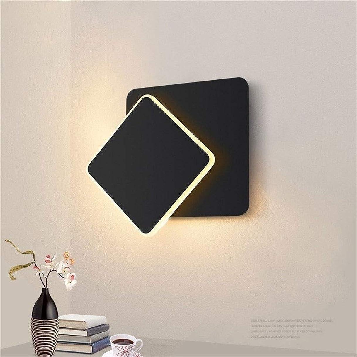 運動するハント提供スクエアLEDウォールランプベッドルーム、リビングルーム、白、黒壁取り付け用燭台壁ライトの360度回転可能な金属製5W / 16W器具 (Color Temperature : Cool White, Lampshade Color : 白-15 cm 5w)