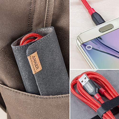 Anker Powerline+ 1.8 m Micro USB Kabel, Das hochwertige, schnellere & beständigere Ladekabel für Samsung, Nexus, LG, Motorola, Android Smartphones und weitere (Rot)