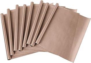 Bugucat Reusable Baking Sheet 8 Pack, PTFE Teflon Baking Mats Heat Resistant Transfer Paper Non Stick Baking Paper Waterpr...