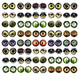 6MM 100PCS Owl Snake Lizard Animal Eyes Glass Cabochon for Clay Doll Making Sculptures Props Craft DIY Findings Jewelry Making