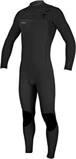 O'NEILL Oneill Mens Hyperfreak 3/2 Zipless Full Wetsuit, Adult, Black/Black, 2XL