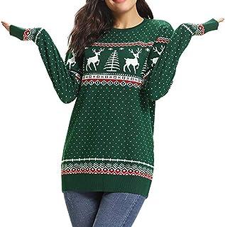 c421a42f36fae1 ZEFOTIM Christmas Women Zipper Dots Print Tops Hooded Sweatshirt Pullover  Blouse T-Shirt
