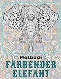 Färbender Elefant - Malbuch