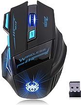 F14 LED Optical Mouse de Computador 2.4G 2.400 DPI 7 Botões Sem Fio Gaming Mouse Colorido Luzes de Respiração para Pro Gamer
