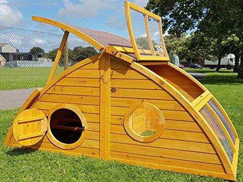 Hühnerstall Hühnerhaus Cocoon Hühnerstall Half Moon mit abnehmbares Dach für einfachere Reinigung, mit stabilem Nistkasten, grosser Lebensraum und 167cm Lang inklusive Nistkasten - Designer Stall - 6