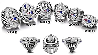 Replica Championship Ring for New England Patriots Gift Fashion Ring (A SET 6) (11)