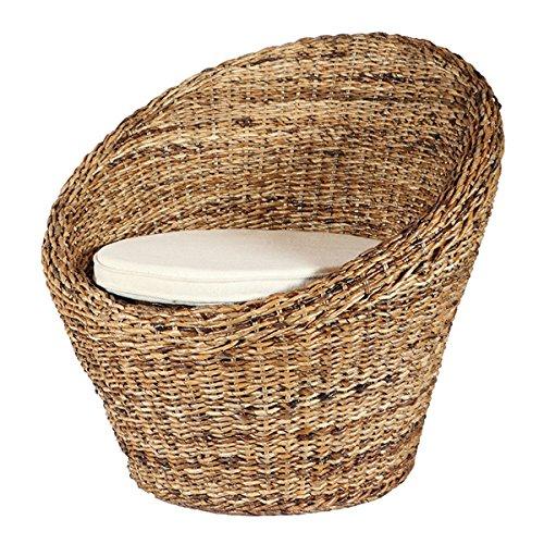 Rotin Design REBAJAS : -55% Sillón de ratan y de abaca para el salón, moderno y barato MAYA