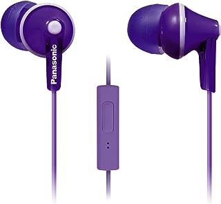 Panasonic ErgoFit in-Ear Earbuds Headphones with Mic/Controller RP-TCM125-V (Purple)