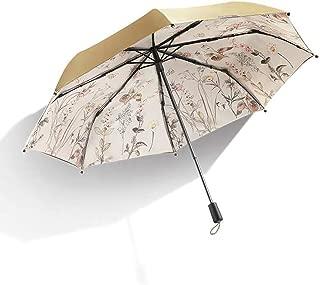 Household Umbrellas Sun Protection UV Umbrellas Sun Protection Folding Black Umbrellas Rain and Rain Umbrellas Green, Yellow Ztoyby (Color : Yellow)