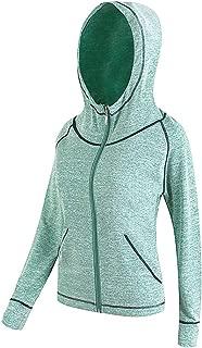 La Dearchuu Long Sleeve Full Zip Hoodie Quick Drying Fitness Jacket for Women