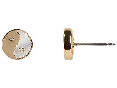Rebecca Minkoff Yin-Yang Stud Earrings (Gold) Earring