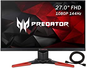 2020 Acer Predator 27 Inch 144Hz Gaming Monitor| FHD 1920 x 1080| 1ms GTG| VESA Mounting| G-SYNC (USB 3.0 & HDMI & DP Port...