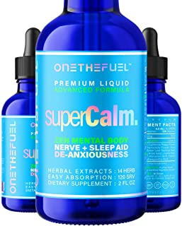 Super Calm - Anti Anxiety Nerves Stress Depression Insomnia Relief + Mental Body Relax All Natural Sleep Support - Targete...