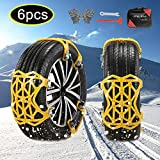 soyond 6 pcs Tire Chains for Cars - Adjustable Anti Slip Emergency Tire