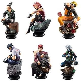 EASTVAPS 6pcs Naruto Gaara Shippuden Sasuke Jouet Déchecs Figurine