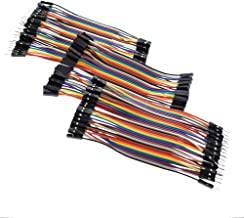 Aideepen 120PINS 10cm Breadboard Wire Jumper Male to Male Male to Female Female to Female Multicolored Ribbon Cables Kit 120pcs for Arduino