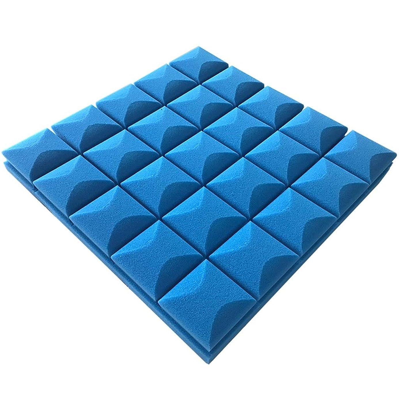 ロードブロッキングアーク道路壁音響パネル、(10PCS)カラーソフトホテルレコーディングスタジオ屋内簡単インストール吸音綿/ 2.5平方メートル (Color : Blue)